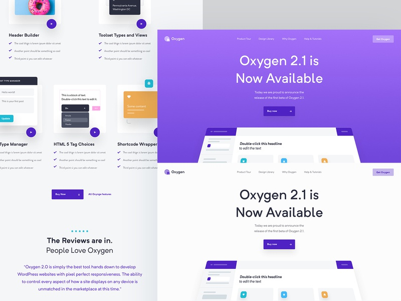 Oxygen Webdesign white purple wordpress fresh real project wolinger website ux web design web ui clean design simple