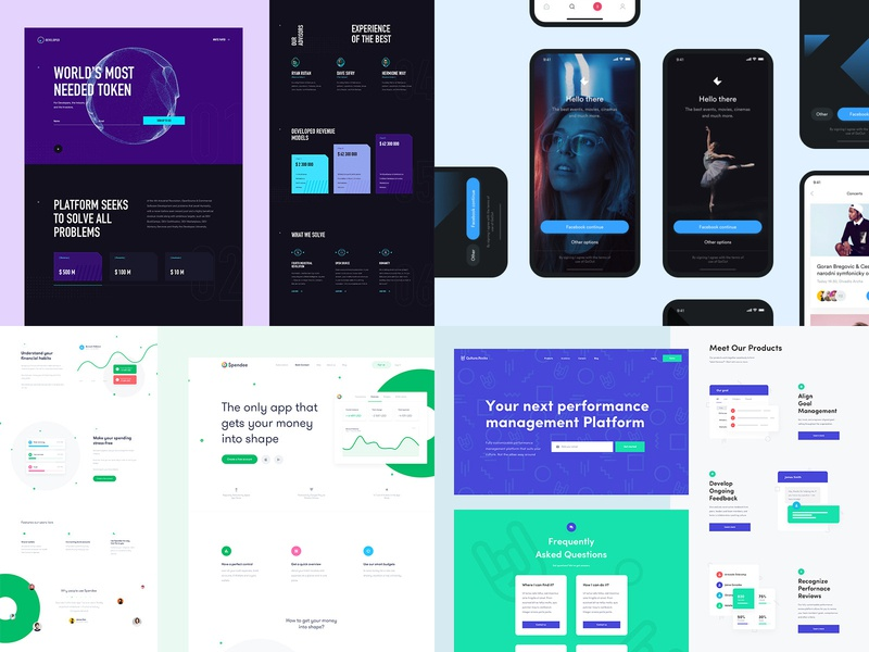 2018 real work app real project simple ux web design web ui clean design