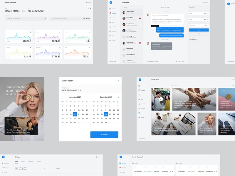 Crypto Dashboard wallet crypto light real work wolinger ui ux clean app design web dashboard