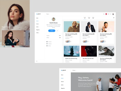 GoOut Pages uxdesign users profile ticket real project czech wolinger ui ux web design web clean design simple