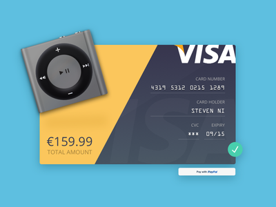 Daily UI #002 - Credit Card Checkout dailyui
