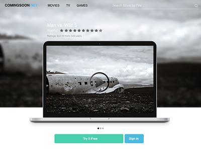daily UI #003 - Landing Page dailyui