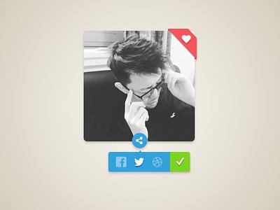 daily UI #010 - Social Share dailyui