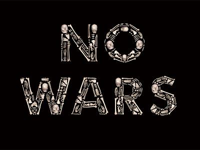 NO WARS poster font