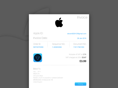 daily UI #017 -Email Receipt dailyui