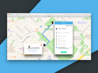 daily UI #020 -Location Tracker dailyui