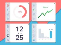 daily UI #021 -Home Monitoring Dashboard