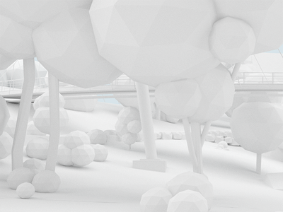 WIP —falls park abstract modeling trees low poly clay render park nature 3d design