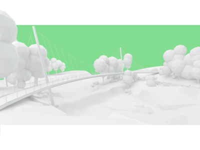 falls park abstract modeling trees low poly clay render park nature 3d design