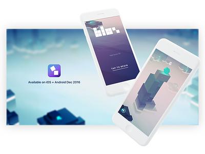 It's Alive :) gradients blocks tower minimal 3d game design app design andriod ios