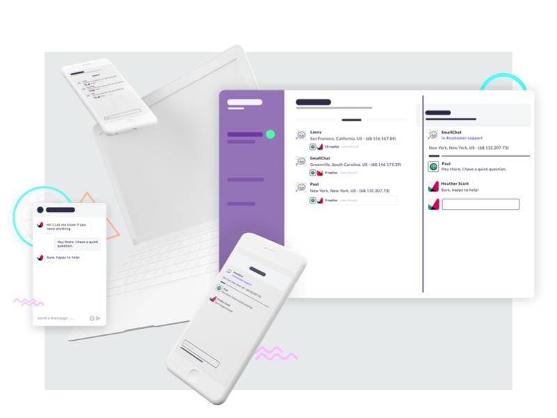 smallchat-2 smallchat slack integration clay render 3d illustration branding messaging chat slackbot app