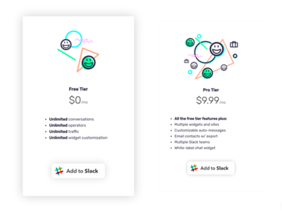 smallchat-4 web design icon illustration card pricing ui messaging chat slack smallchat