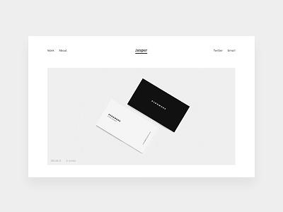 Jasper website portfolio white minimal theme tumblr dsgnwork