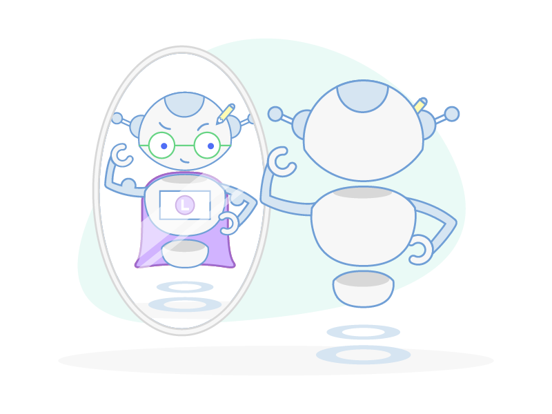 Motivational Robot robot mascot logojoy illustration