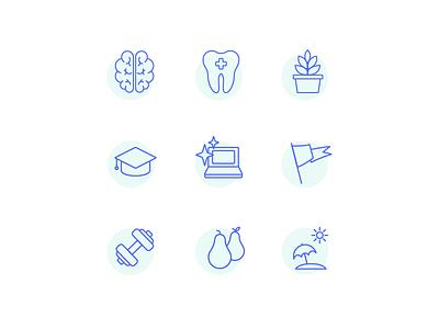 Logojoy Work Perks icon design work perks careers icon set logojoy