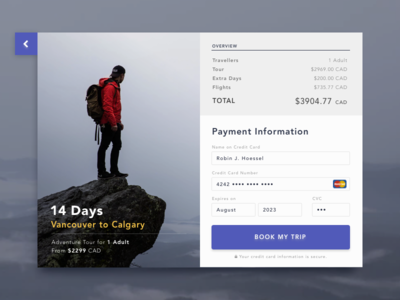 Credit Card Checkout: Outdoor Adventure Theme