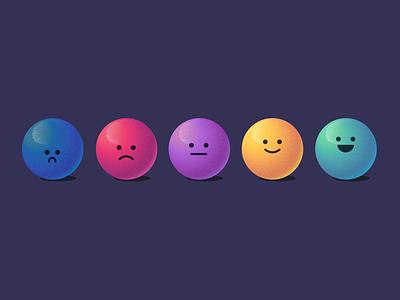 Moody Marbles emotions balls spheres marbles adobe illustrator texture 3d emoji illustration