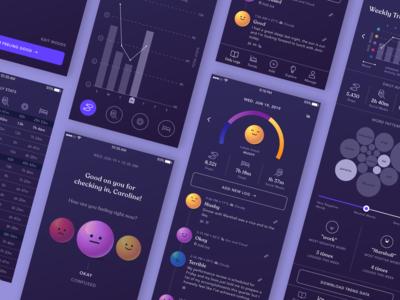 Marbles App: Dark Mode UI