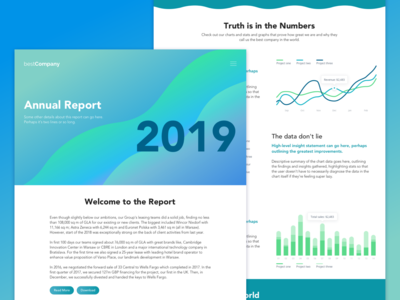 Bold Waves: Report Template Themes