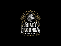 Vintage logo for Shady Grounds Coffee