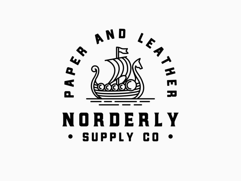 Norderly Supply Co horse ship supply co norderly north viking retro illustration handmade logo artisan hand-drawn handdrawn vintage
