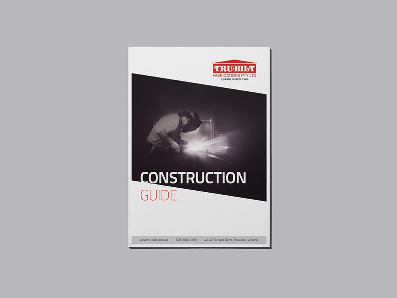 Construction Guide - Cover business melbourne print magazine book guidelines construction build weld welding print design cover a4 guide manual
