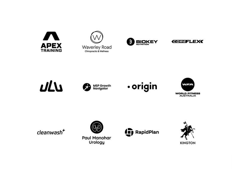 Logo Folio Collection - Black & White (2) logos collection icon grid geometric lettermark monochrome portfolio folio logo folio symbol monogram white black logotype logo design logo