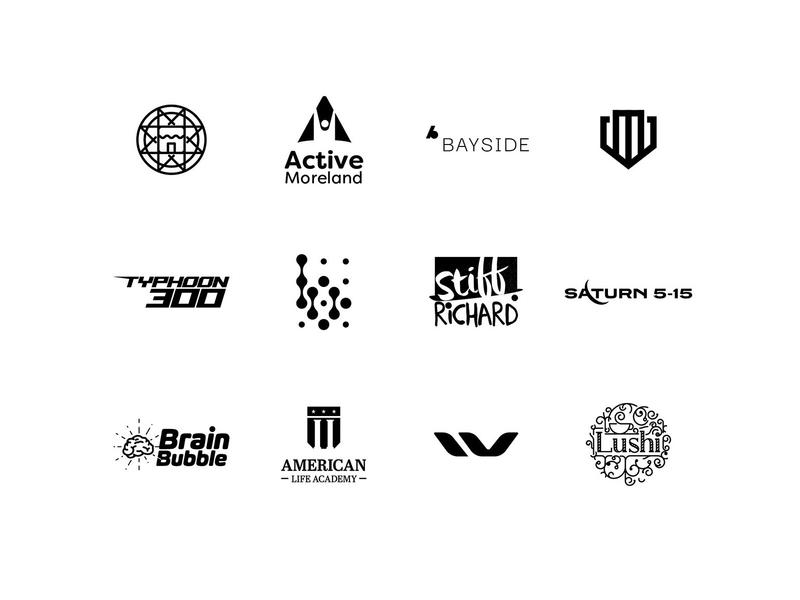 Logo Folio Collection - Black & White (4) letter monogram print type typography logo design branding design branding graphic design design unique company business logotype logo
