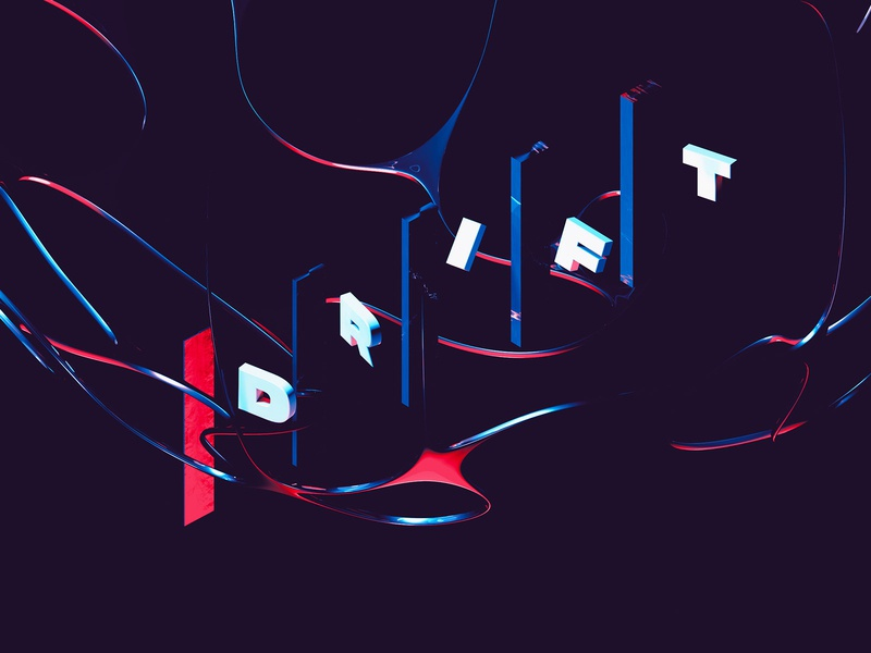 Drift – Floating 3D Typography 3d type 3d text effect abstract art letters modern trendy 3d text 3d art render 3d letter design cinema4d abstract type typography design lettering typography