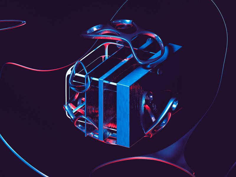 Drift - Isolated 3d Render digital cinema alien behance professional blob mood playful fun mograph redshift octane minimal cube abstract abstract art 3d cinema4d cinema 4d