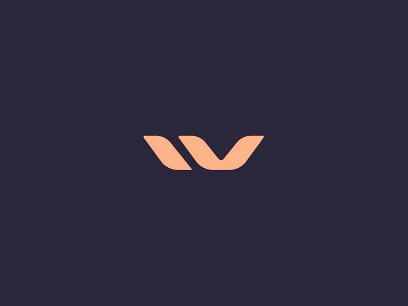 W Monogram Logo Design design lettering icon symbol logotype soft branding logo designer flow nature natural feminine elegant simple monogram logo design iv w