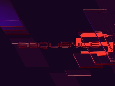 Sequence - Abstract Art Cinema 4D design type logo lettering typography abstract reflection glass cinema 4d retro synthwave retrowave 3d art c4d cinema4d