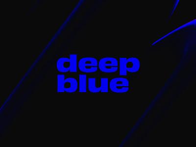 Deep Blue lettering type animation design animation 2d typography abstract looping lighting lighting effects minimal dark loop animation cinema4d cinema 4d loop animation