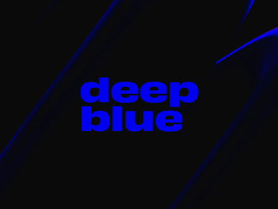 Deep Blue lettering type animation design animation 2d typography abstract looping lighting lighting effects minimal dark loop animation cinema4d cinema 4d loop animation