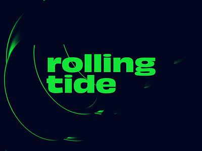 Rolling Tide looping render cinema4d digital loop animation typography type circular roll lighting effects lighting lettering dark animation 2d animation abstract cinema 4d loop minimal