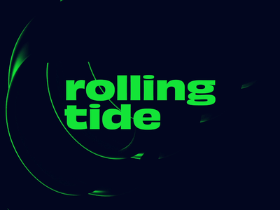 Rolling Tide looping render cinema4d digital loop animation typography type circular roll lighting effects lighting lettering dark animation 2d animation abstract cinema 4d loop minimal
