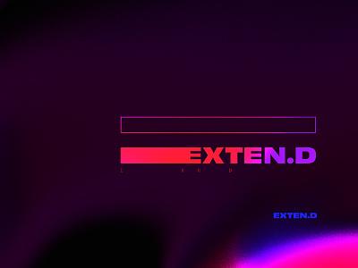 Extend pop 3d minimalist cinema 4d cinema4d typography minimalism modernist drag extend lettering synthwave retrowave abstract art abstract retro minimal
