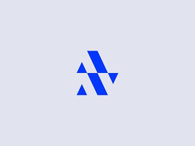 AN Monogram argyle simple branding monogram letter mark fitness gym supplement nutrition logo logotype monogram