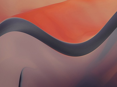 Waves Edition 4 waveform wave purple orange abstract digital art abstract art design flow tones soul smooth bright pop palette colorful intense cinema 4d photoshop 3d