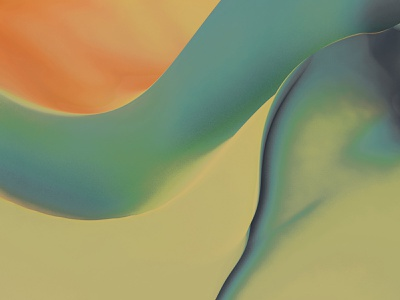 Waves Edition 5 photoshop cinema 4d curve orange green earth abstract art digital art texture waves wave abstract topography calm smooth nature curves modern