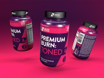 Premium Burn: Toned powder gym bottle fat loss cinema 4d nutrition whey label protein supplement