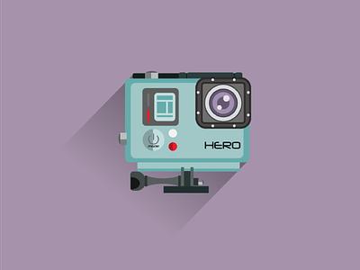 GoPro Illustration graphic design icons illustrator illustration