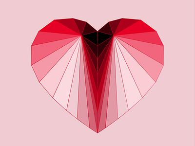 Polygon Heart illustration polygon valentine
