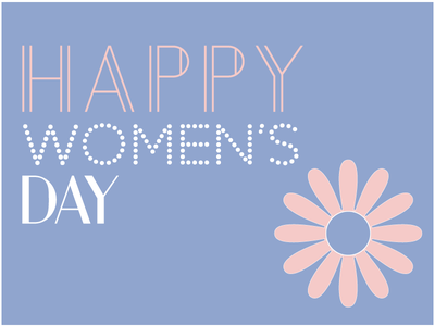 Happy Women's Day card graphicdesign womensday
