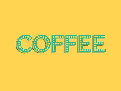 Coffee graphic design words typography