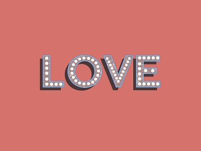 LOVE graphic design words typography