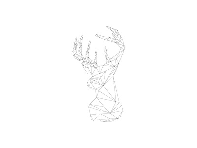 Polygon Deer Pt 1 graphic design polygon
