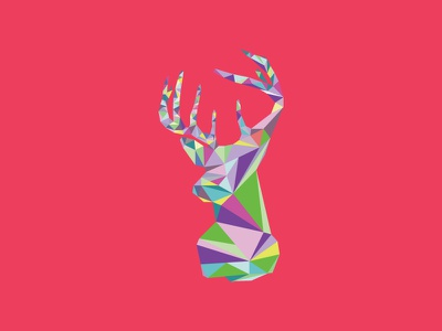 Polygon Deer Pt 3 graphic design polygon