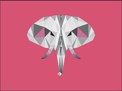Polygon Elephant graphic design polygon