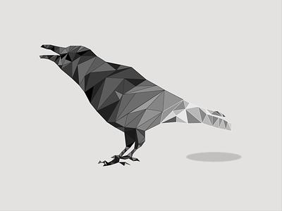 Polygon Crow illustration animal crow polygon